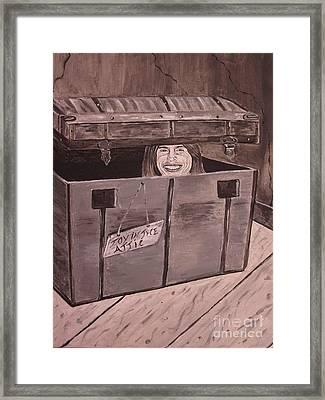 Framed Print featuring the painting Toy In The Attic by Jeepee Aero