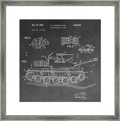 Toy Military Tank Patent Framed Print by Dan Sproul