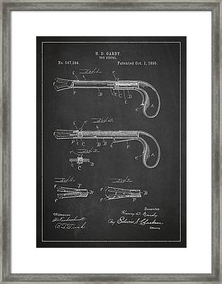Toy Pistol Patent Drawing From 1895 Framed Print