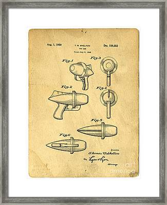 Toy Ray Gun Patent Framed Print by Edward Fielding