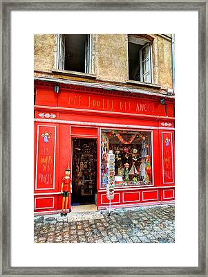 Toy Shop In Old Town Lyon Framed Print