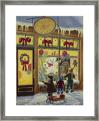 Toy Shoppe Framed Print by Roger Witmer