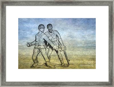 Toy Soldiers Battle Fury Framed Print by Randy Steele
