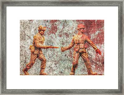 Toy Soldiers Battle Hardened Framed Print by Randy Steele