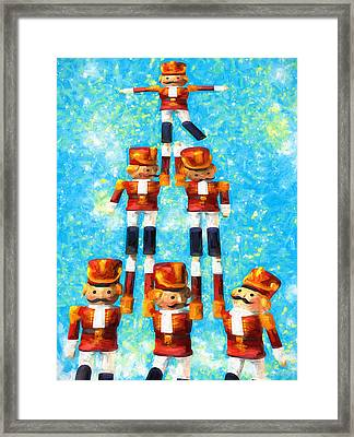 Toy Soldiers Make A Tree Framed Print
