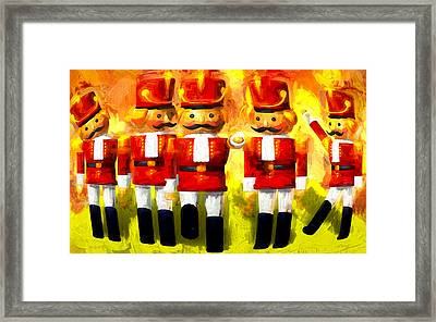 Toy Soldiers Nutcracker Framed Print by Bob Orsillo