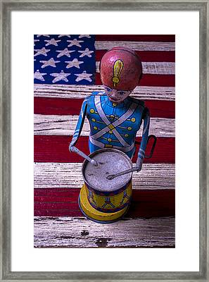 Toy Tin Drummer Framed Print by Garry Gay