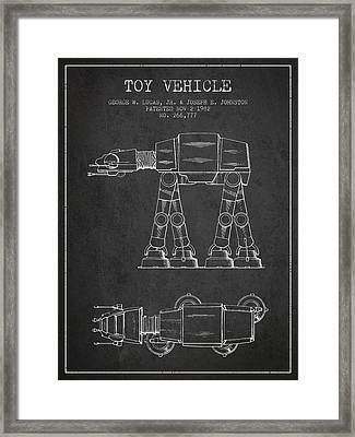Toy Vehicle Patent From 1982 - Dark Framed Print by Aged Pixel