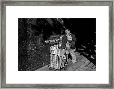 Toy Vendor Framed Print by Thomas Hall