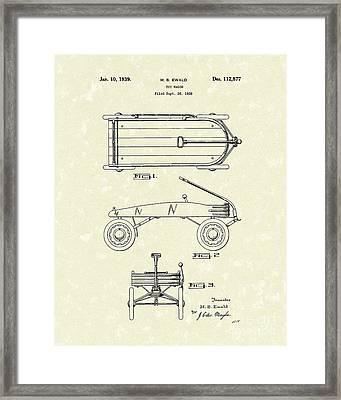 Toy Wagon 1939 Patent Art Framed Print