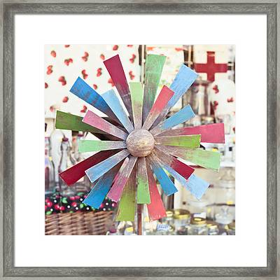 Toy Windmill Framed Print