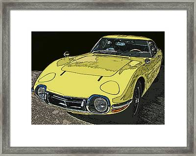 Toyota 2000 Gt Framed Print by Samuel Sheats