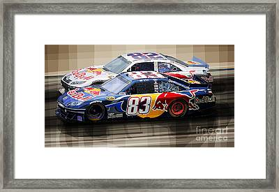 Toyota Camry Nascar Nextel Cup 2007 Framed Print by Yuriy  Shevchuk