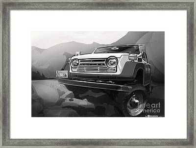 Toyota Fj55 Land Cruiser Framed Print by Uli Gonzalez