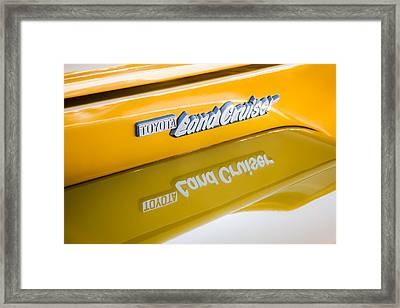 Toyota Land Cruiser Emblem  Framed Print by Jill Reger