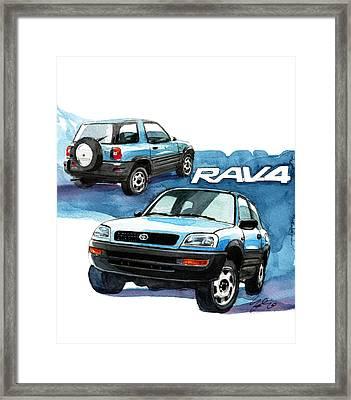Toyota Rav4 Framed Print