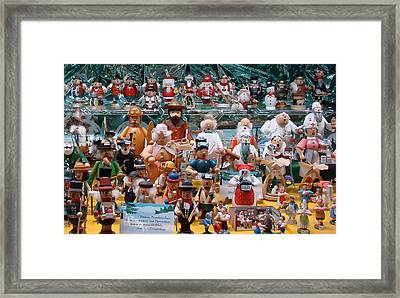 Toys And Nutcrackers For Sale Framed Print