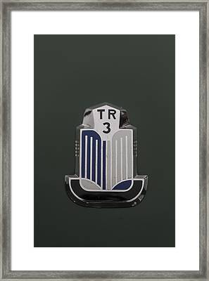 Tr3 Hood Ornament 2 Framed Print