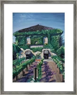 Tra Vigne Framed Print by Donna Tuten