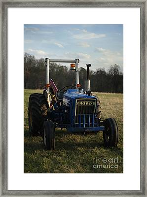 Trac And Field Framed Print by Zachary Hitchcock