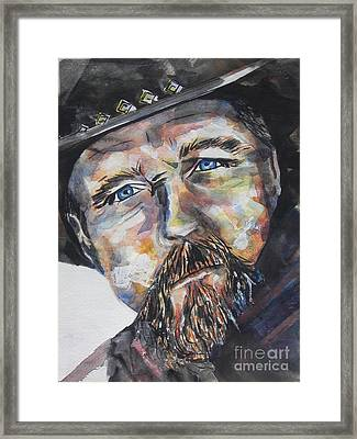 Trace Adkins..country Singer Framed Print by Chrisann Ellis