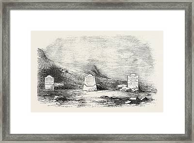 Traces Of The Franklin Expedition The Three Graves At Cape Framed Print
