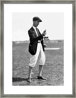 Track & Field Starter Man Framed Print by Underwood Archives