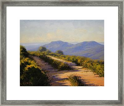 Track Along Walls Ledge Blackheath Framed Print