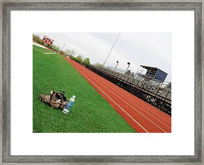 Track And Field Framed Print by Tom Druin