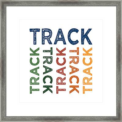 Track Cute Colorful Framed Print