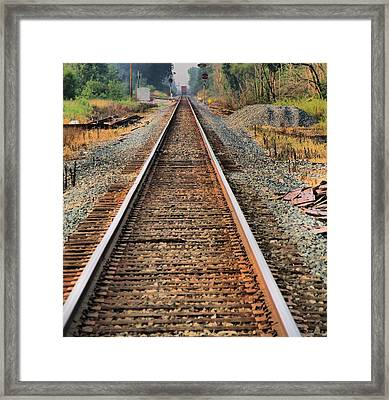 Track Framed Print by Dan Sproul