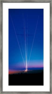 Track Lights Zurich Airport Switzerland Framed Print