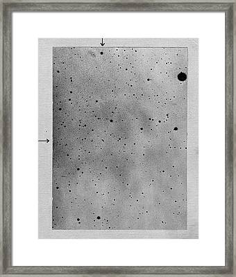 Track Of The Asteroid Sappho Framed Print by Universal History Archive/uig