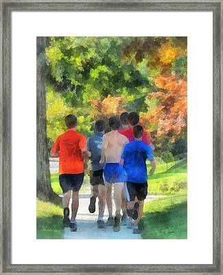 Track Practice Framed Print by Susan Savad