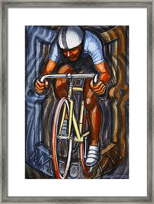 Framed Print featuring the painting Track Racer  by Mark Howard Jones
