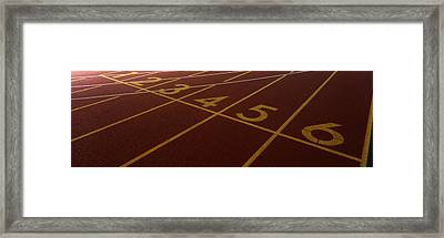 Track, Starting Line Framed Print