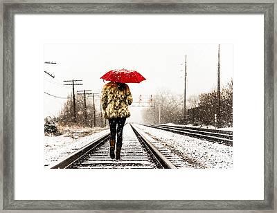 Track Walk Framed Print by Brad Tammaro