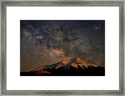 Tracking Milk Over West Spanish Peak Framed Print by Mike Berenson