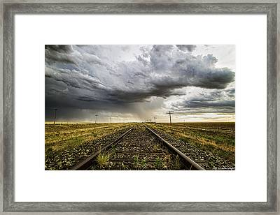 Tracking West Framed Print