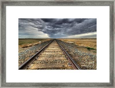 Tracks Across The Land Framed Print