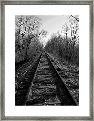 Tracks Framed Print by Brian Amick