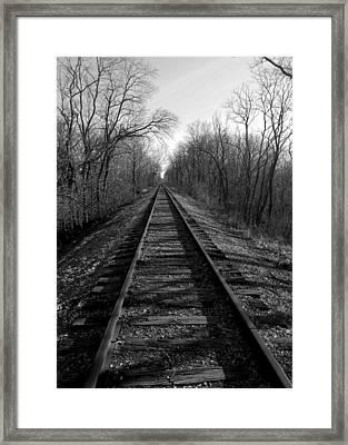 Tracks Framed Print by Brian Amick