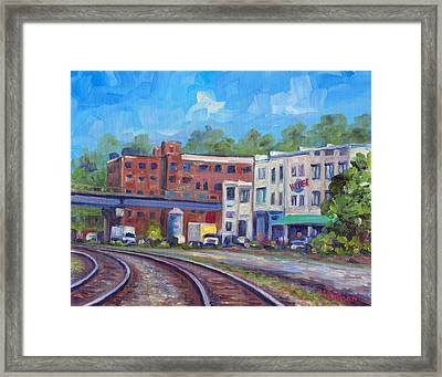 Tracks By The Wedge Brewery Framed Print by Jeff Pittman