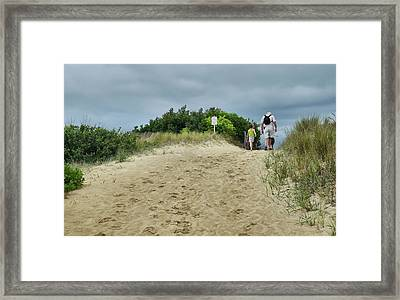 Framed Print featuring the photograph Tracks In The Sand by Barbara Manis