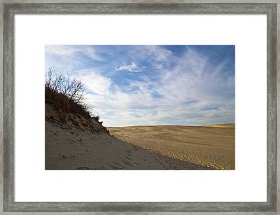 Framed Print featuring the photograph Tracks In The Sand Trail by Gregg Southard