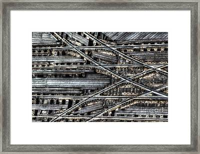 Tracks Framed Print by Margie Hurwich