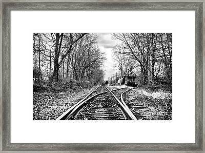 Tracks Of History Framed Print by John Rizzuto
