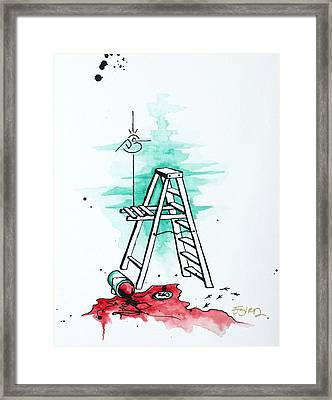 Tracks Of Paint Framed Print by Emily Pinnell