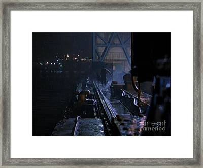 Tracks On The Quay Framed Print by Bryan Crawley