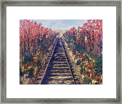 Tracks Remembered Framed Print